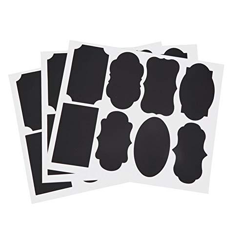 Jadpes Chalkboard-labels, 88 stuks, grote labelstickers met stift, milieuvriendelijke stickers voor keuken, glazen flessen, label, blackboard-sticker, craft decoratie
