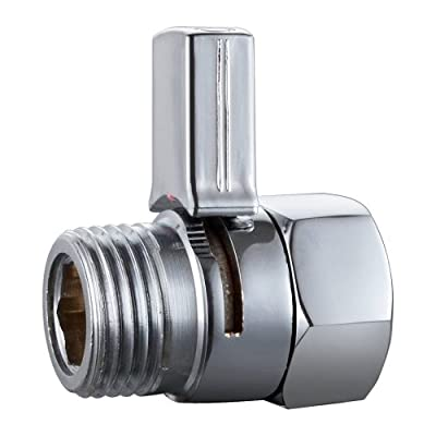 KES Solid Brass Shower Head Shut Off Valve with Long Swith, Chrome