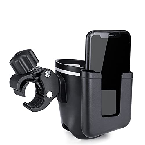 ERTERT Bicycle Water Bottle Cup Holder Phone Holder Case Scooter Handlebar Mount Bike MTB Water Bottle Cage Holder (Color : 2 in 1)