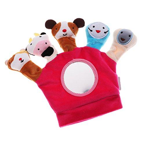 Toygogo Cute Baby Child Zoo Farm Animal Hand Sock Glove Puppet Finger Sack Peluche De Juguete - Rojo