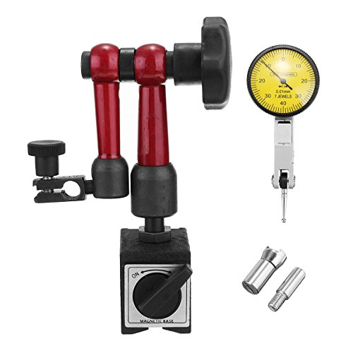 KUNSE Soporte De Base Magnética Universal Soporte + Dial Indicador De Prueba Indicador Escala Precisión