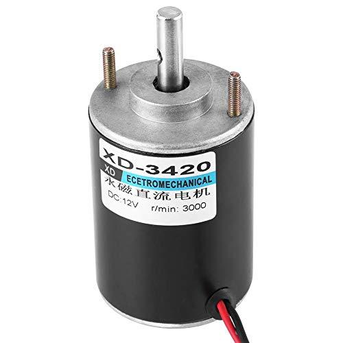 XD-3420 12/24V 30Watt High Speed CW/CCW Permanentmagnet DC Motor für DIY Generator(3000 U/min (12 V))
