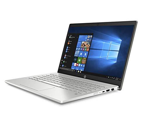"""HP-PC Pavilion 14-ce3034nl Notebook, Intel Core i5-1035G1, RAM 8 GB, SSD 512 GB, Grafica UHD Intel, Windows 10 Home, Schermo 14"""" FHD Antiriflesso, Lettore Impronte Digitali, Lettore Micro SD, Argento"""