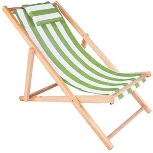 Tumbona Sillas de jardín Tumbona Plegable Silla reclinable de Playa, con Almohada Tumbona Plegable Balcón Exterior Ajustable Siesta Chaise Longue Plegable (Color, B), F Good Life