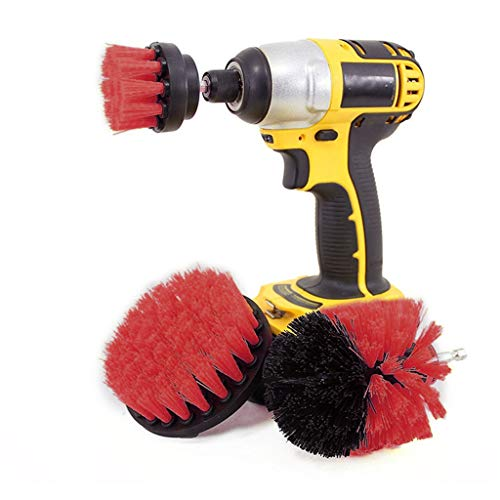 Drill Brushes Attachment Kit for Cleaning, Attachment Kit Power Scrubber Cleaning Kit Drill Brushes for Cleaning Pool Tile, Flooring, Kitchen Cleaning Supplies, Bathroom, Floor, Tiles, Car