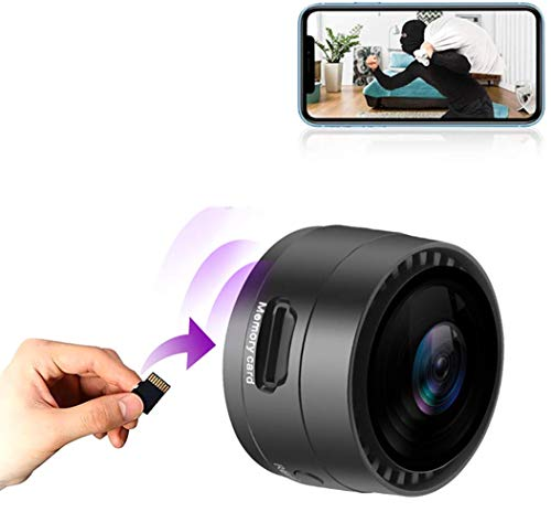 FiveSky Telecamera WiFi Mini Telecamera 1080P HD Videocamera portatile wireless Videoregistratore Videocamere IP con rilevazione di movimento Videocamera di Sicurezza per Interno/Esterno