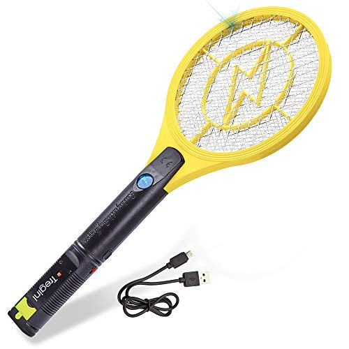 Tregini Mini Electric Fly Swatter – Rechargeable...