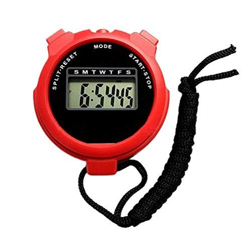 Jxfrice Cronómetro digital deportivo, cronómetro digital impermeable, cronógrafo de mano, cronómetro deportivo profesional para correr, natación, arbitraje, carreras de caballos