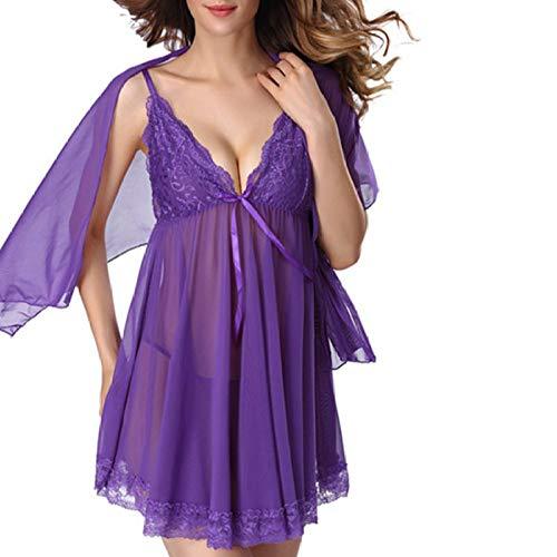 Lace Kurzarm Nachthemd Sexy Pyjamas Sexy Dessous Perspective Lace Pyjamas