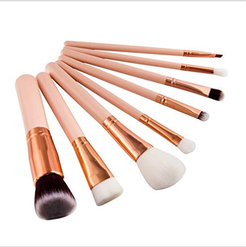 Pinceau de maquillage 8 12 pinceau de poudre dispersée blush pinceau de fard à paupières adapté pour la maquilleuse débutante, 8 or rose