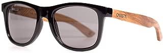 Cassette Wood Sunglasses, The Yo, Black and Kossowood, Smoke Polarized Lens
