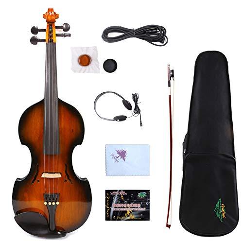 5 cadena calidad barroco eléctrico tubo violín violín electrónico variedad de color de madera SHANDZ