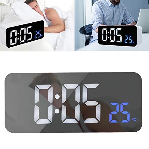 Pokerty9 Reloj de cabecera, Reloj Despertador Digital Multifuncional con Control por Voz, Escritorio para Dormir Pesados, Dormitorio de cabecera para niños
