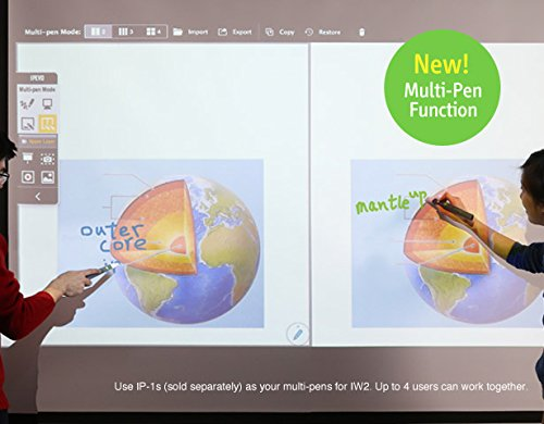 IPEVO IW2 Wireless Interactive Whiteboard System. Teach from Home, Play at Home, Short Pen, Model Number: 5-876-1-01-00
