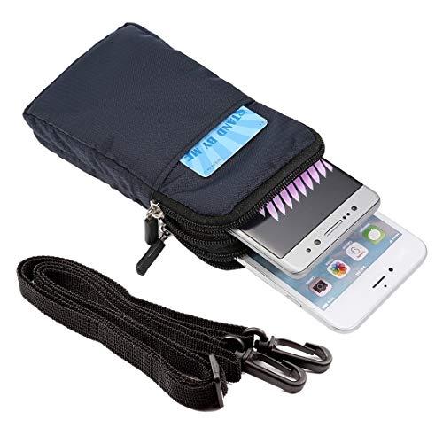 Fundas para teléfono móvil Universal Multi-función Plaid Texture Doble capa Zipper Deportes Cinturón / Bolso for iPhone X y 7 y 7 Plus / Galaxy S9 / S8 / Note 8 / Sony Xperia Z5 / Huawei Mate 8, Tamañ