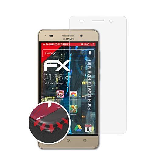 atFolix Schutzfolie kompatibel mit Huawei G Play Mini Folie, entspiegelnde & Flexible FX Bildschirmschutzfolie (3X)