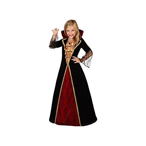 Atosa-22759 Disfraz Vampiresa, Color Negro, 7 a 9 años (22759)