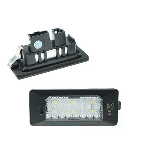Do!LED LED Kennzeichenbeleuchtung 6000K Xenon-Weiß für Ersatz Kennzeichen Lampe Plug & Play 6-SMD Kennzeichen Beleuchtung 12V DC 2 Stück Energieklasse A+