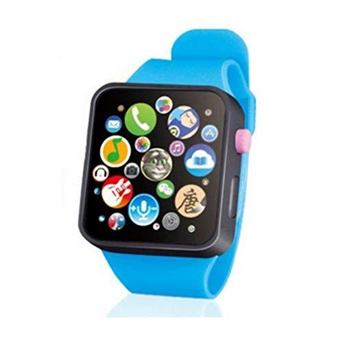 TOYANDONA Reloj Inteligente para Niños con Pantalla Táctil 3D Multifunción para Niños con Educación Temprana Reloj de Pulsera Resistente Al Agua (Azul Talla L)