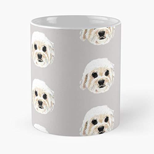 Pet Dog Animal Cute Pooch Eat Food Bite John Best 11 Ounce Ceramic Coffee Mug