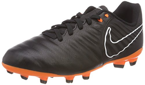Nike JR Legend 7 Academy FG Fußballschuhe, Blau (Black/Black/White/Total Orange 080), 38.5 EU