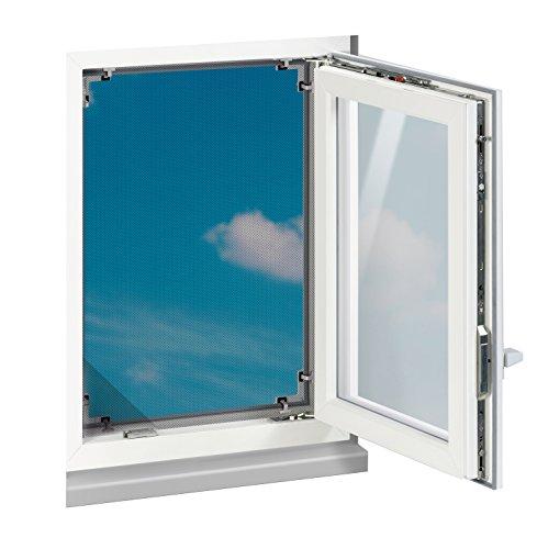 TV Unser Original EASYmaxx 03029 Fenster Moskitonetz Magic Klick, Insektenschutz, Luftdurchlässig & Tasparenter Vorhangstoff , Alle Fenstergrößen