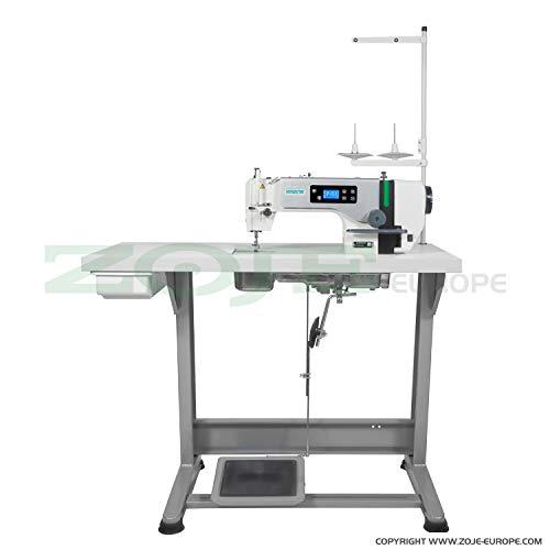 ZOJE Industrienähmaschine Nähmaschine - Schnellnäher - Industrie Industrielle Nähmaschine - KOMPLETT (mit Tisch & Gestell)