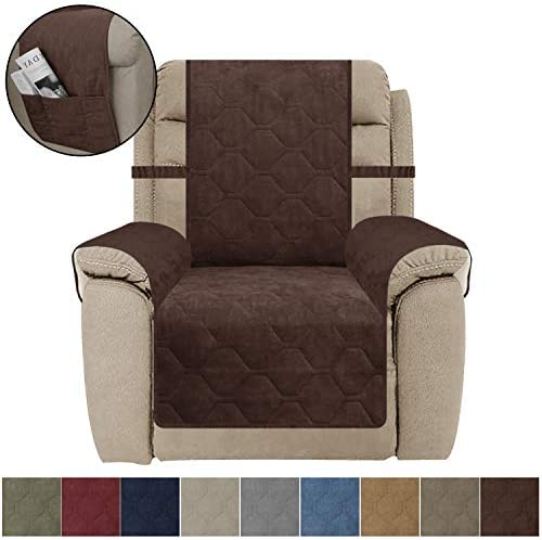 Best SUNNYTEX Recliner Chair Cover, Waterproof Non-Slip Furniture Protector for Recliner, Protect Form Do