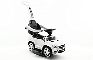 Baby Steps 1578-SW Linsenced Mercedez Benz Licensed Mercedes GL63 Amg Car with Removable Pushing Bar, White