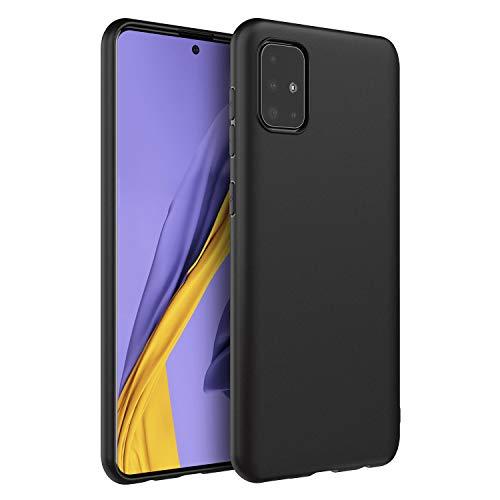 EasyAcc Hülle Hülle Kompatibel mit Samsung Galaxy A51, TPU Handyhülle Matte Oberfläche Handyhülle Schutzhülle Schmaler Handyschutz, Schwarz