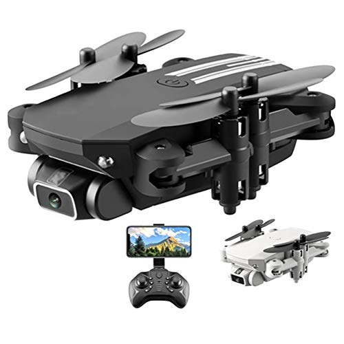 WXFXBKJ New GPS Drone 4k HD Wide Angle Camera 0.3MP/5.0MP/4K HD Cameras Mini Drone LS-MIN Dron Camera Quadcopter Height Keep Drones Toys Gifts (Color : 480P Black 1B Box)