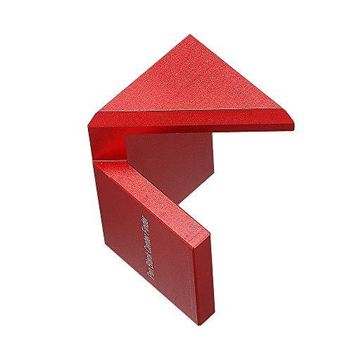 Xuqiang aluminio aleación de madera pluma en blanco centro buscador de madera 45 grados ángulo línea calibre regla de medición de la herramienta de scriber Herramientas manuales de carpintería de bric