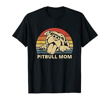 Pitbull Mom With Cute Pitty Face Funny Pitbull Mom T-Shirt