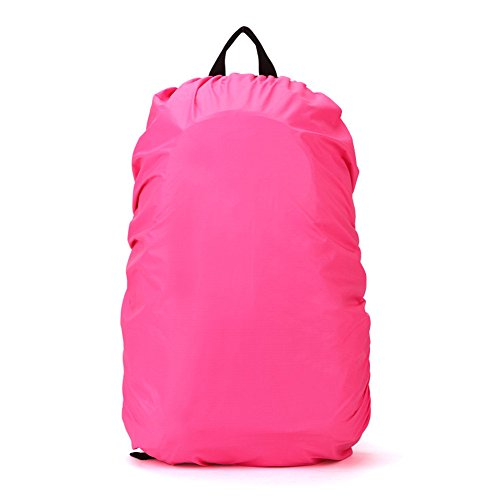 TOOGOO(R) Nueva Funda de impermeable para proteccion de mochila de excursion de viaje Accesorio de mochila, 35L Rose Rojo