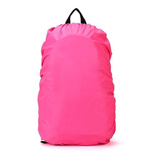 TOOGOO(R) Nouveaux Accessoires de randonnee impermeable de housse de pluie et anti-poussiere pour sac a dos de campaing de 35L,Rose rouge