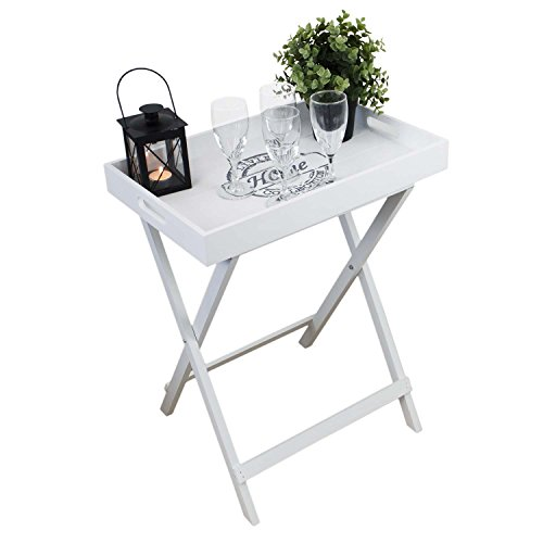 Multistore 2002 Tray with folding legs 19x12,6x23,6' white side table