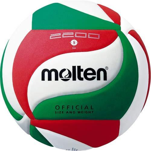 Molten Trainingsball-V5M2200 weiß/grün/rot 5
