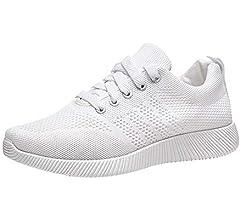 Zapatillas Deportivas De Mujer Malla Running Sneakers Rebajas Casual Zapatos Fitness Respirable Plataforma Deporte Exterior Calzado Harpily (35, Blanco): Amazon.es: Zapatos y complementos