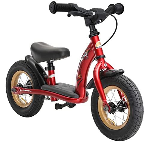 BIKESTAR Bicicleta sin Pedales para niños y niñas | Bici 10 Pulgadas a Partir de 2-3 años con Freno | 10' Edición Clásica Rojo