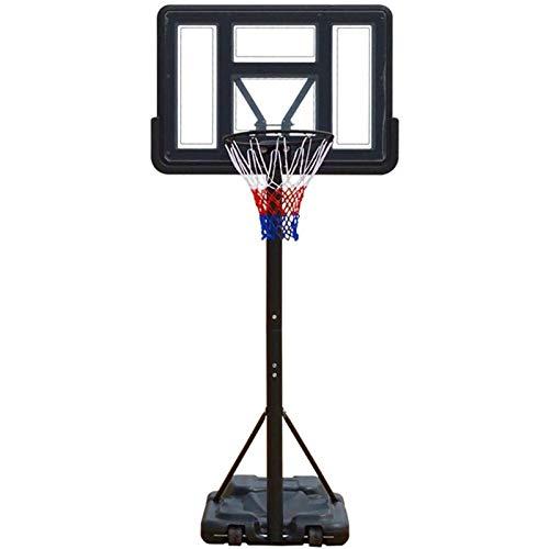 Canasta Baloncesto Los niños del aro de baloncesto portátil w / altura ajustable, tablero trasero y las ruedas, portable ajustable del soporte del tablero trasero de baloncesto Red del aro de balonces