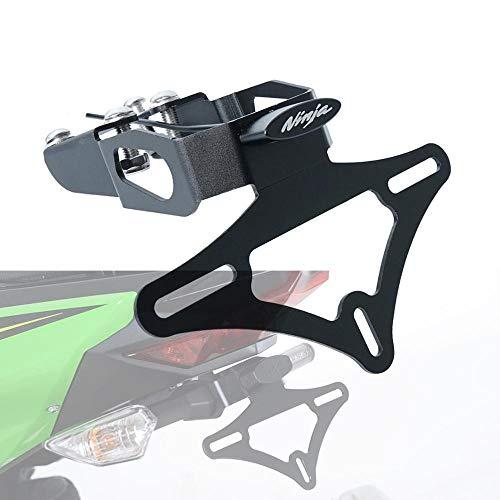 JIANXING Durable Stylish Motorcycle License Plate Holder Bracket Frame Tail Tidy Fender Eliminator For Ka.wa.sa.ki Nin.ja 400 Z400 2017 2018 2019 (Color : Z400)