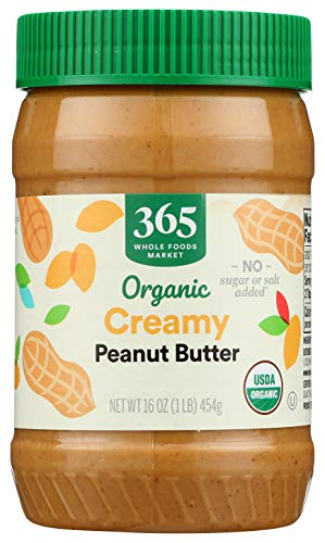 365 by WFM, Peanut Butter Unsweetened & No Salt Organic, 16 Ounce