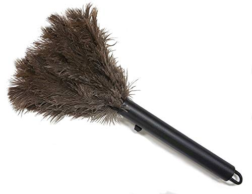 Retractable Feather Duster - Genuine Ostrich Feathers with Metal-Wire Binding