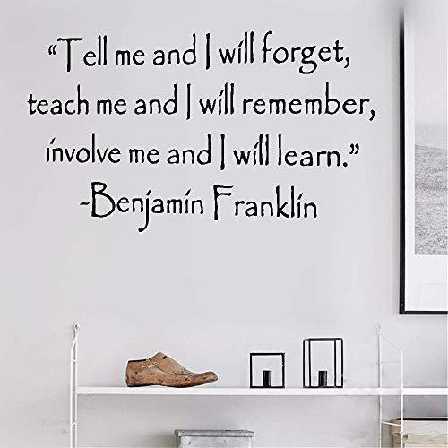pegatinas de pared buhos pegatinas de pared harry potter Dime y olvido Enseñame y recuerdo Involúcrame y aprendo para el aula