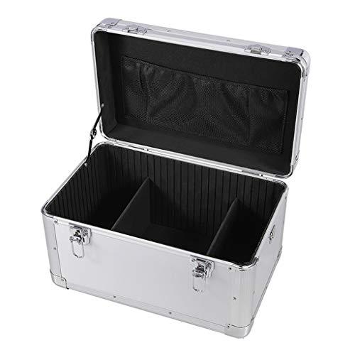 Cajas de Herramientas Vacias Caja de herramientas de hardware de aluminio de transporte de aluminio resistente del tiempo y resistente Dent doble cerradura de la llave de seguridad acolchado divisores