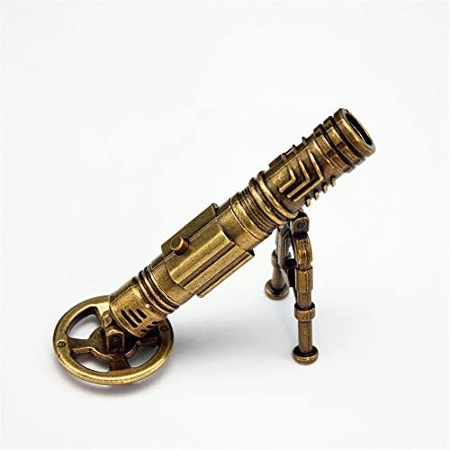 GCDZ Mini juguete retro de metal modelo de cañón con 5 piezas de cañón y objetivo para decoración de escritorio (gole1)