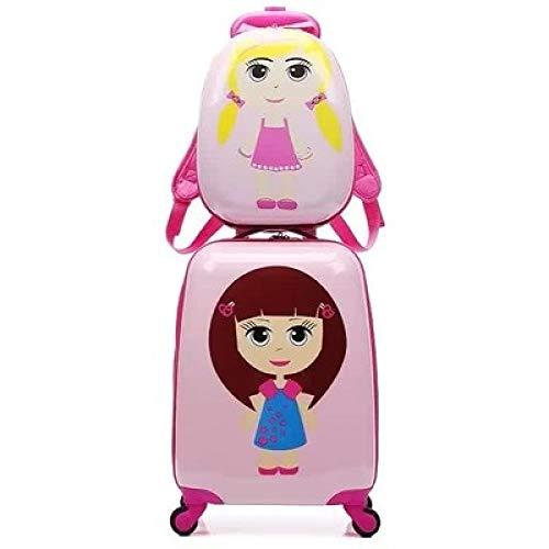 SONGXZ Kinderkoffer 18 Zoll Plus 13 Zoll Rollen Cartoon Koffer Student Abschleppkasten