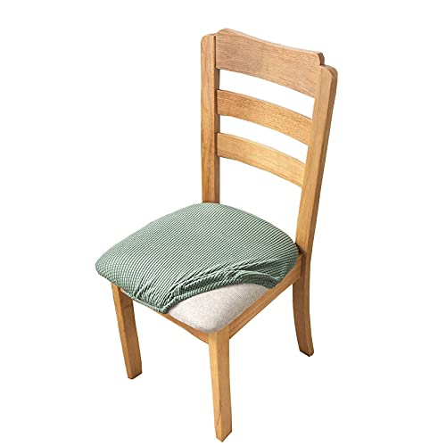 Fundas para Asientos de sillas, Comedor, sillas, Asientos, Cojines, Fundas con Lazos, Jacquard elástico Universal, extraíble, Lavable, Fundas para sillas, Protectores para sillas de Cocina, restaura