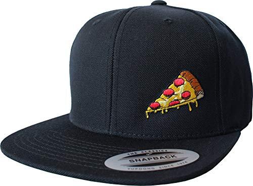 Cap: Pizza Slice - Flexfit Snapback Urban Streetwear Basecap - Geschenk Männer Mann Frau-en - Baseball-cap Mütze Hip-Hop Rap Kappe - Koch Fahrrad Kurier Bote USA Arbeitskleidung Workwear (One Size)