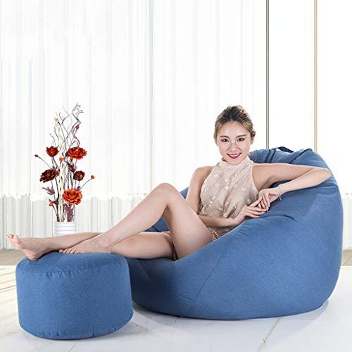 Canapé Paresseux Sofa Bean Bag voor volwassenen – Sofa Pigro – Sofa, superzachte stoel + voetensteun van zachte microvezel, vulling van hoogwaardige ambiance A09